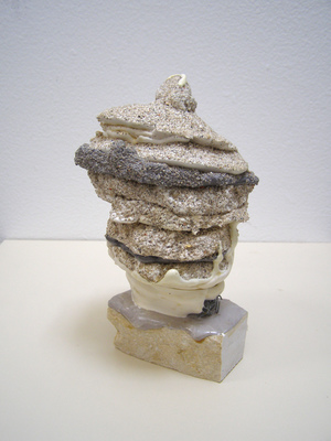 David McDonald Untitled (Lumps) Hydrocal, Pigment, Sand, Marble, Polyurethane
