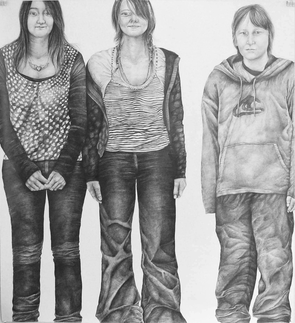 Drawings 2008-2010 Three Teenagers / Trois Adolescents