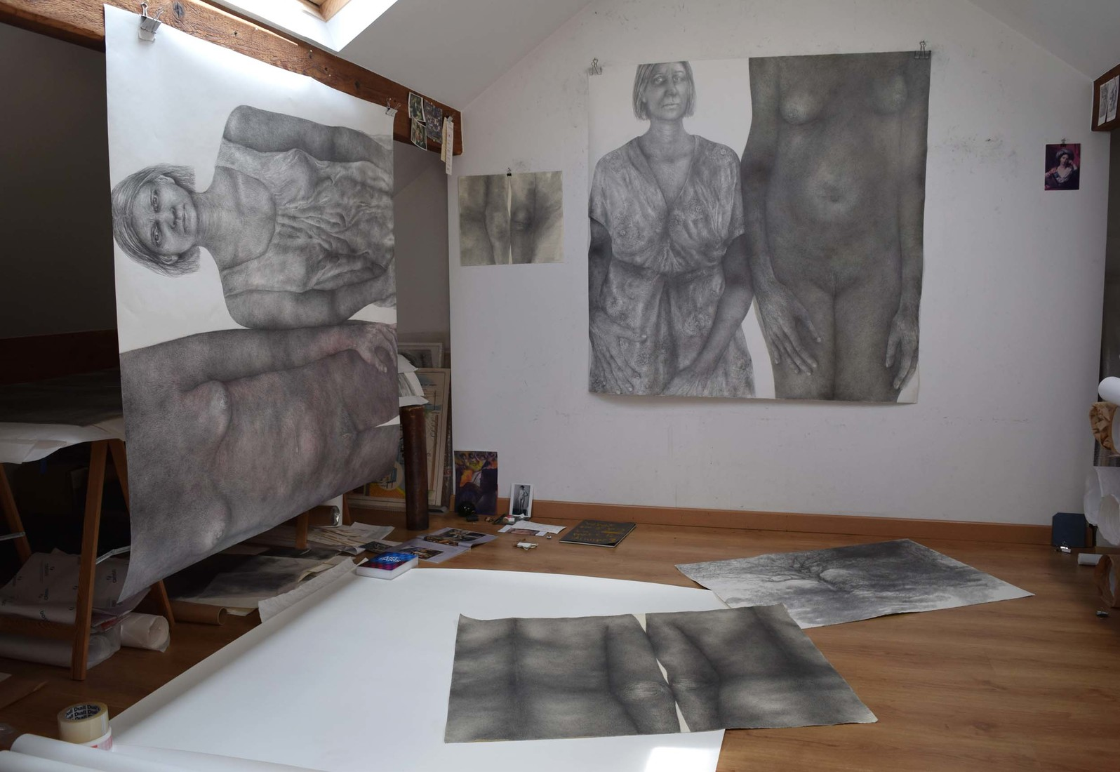 Drawings 2019-2020 Studio view 2020 / Vue d'atelier 2020