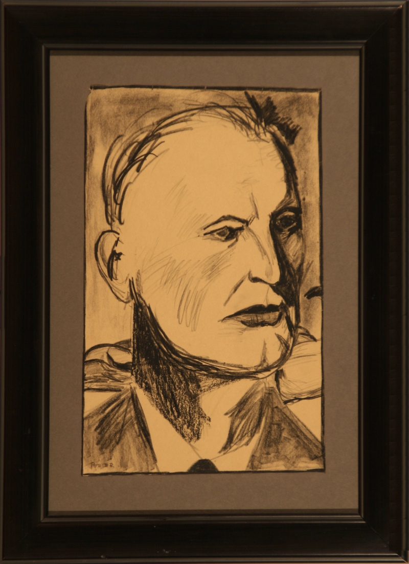 DON PORTER Drawings conte crayon on paper