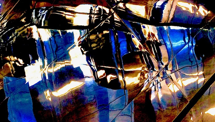 DON PORTER Radical Wabi Sabi digitized photo of temporary sculpture