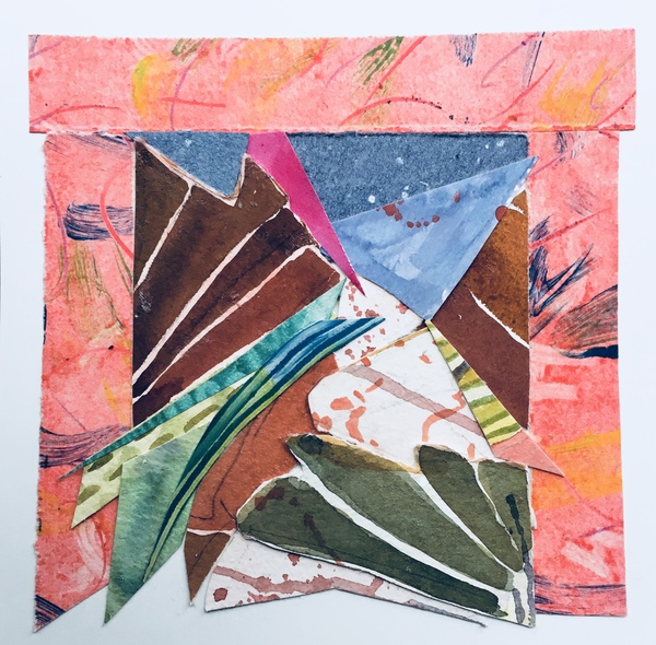 Dorothy Englander  Collages watercolor and monoprint fragments paper
