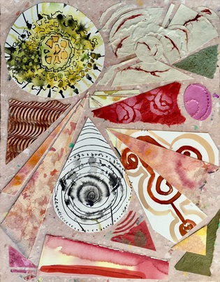 Dorothy Englander  Collages 2017  collage on handmade paper