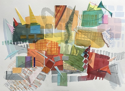 Dorothy Englander Collages/Watercolors 2018 watercolor, collage