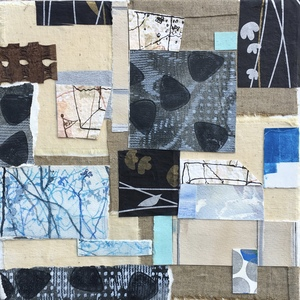 Dorothy Englander Collages/Watercolors 2018 collage on canvas