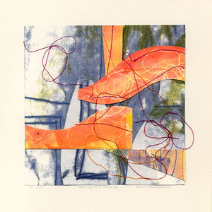 EDDA VALBORG SIGURDARDOTTIR Collage Monotype collage and sewing thread