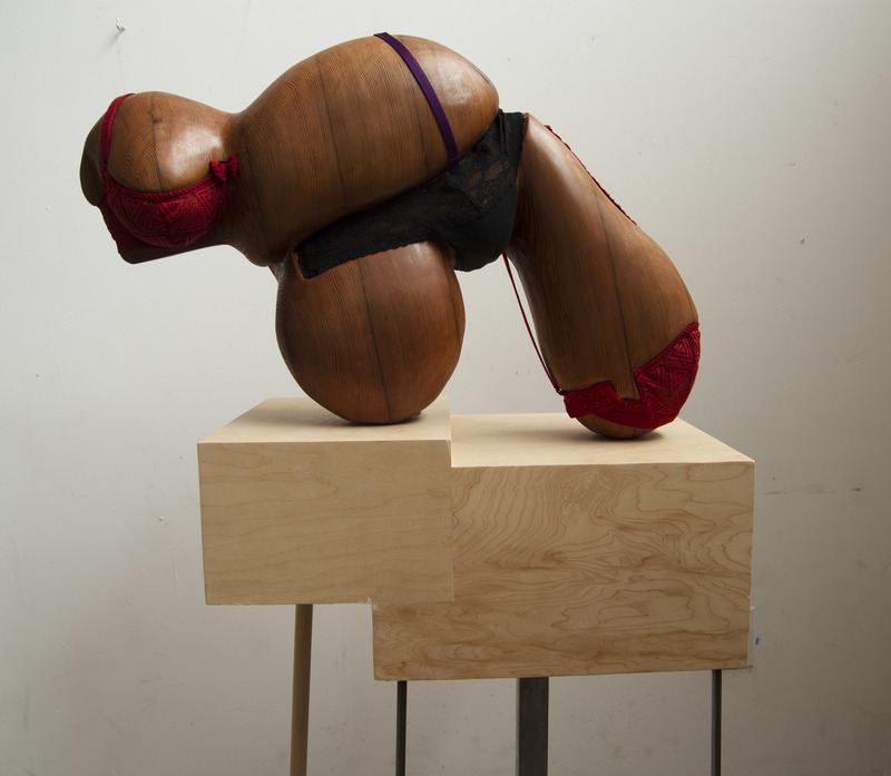 ELISA ORTEGA MONTILLA Objectifying  Reclaimed redwood and undergarments