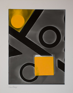 ENNID BERGER Abstractions acrylic paint on silver gelatin photogram