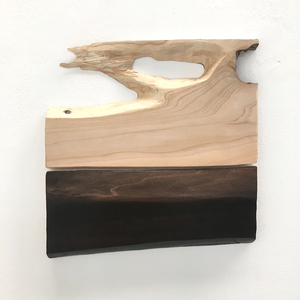 FAR x WIDE WILLING THE SEASON Oil on sanded found wood