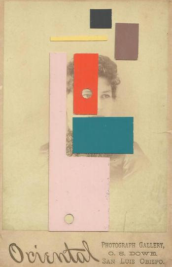 Felicia Dadak Portraits antique photo, paper, glue