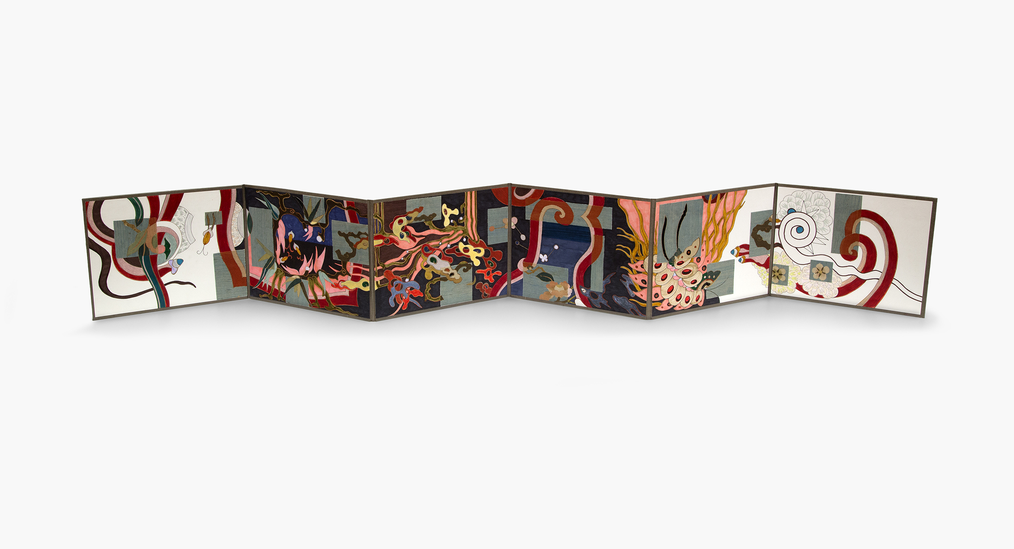 GERHARDT KNODEL Minglings: A Journey Across Time: 2015-2017 Destiny 3, 2015-2017, folding book, 9 x 67 in.