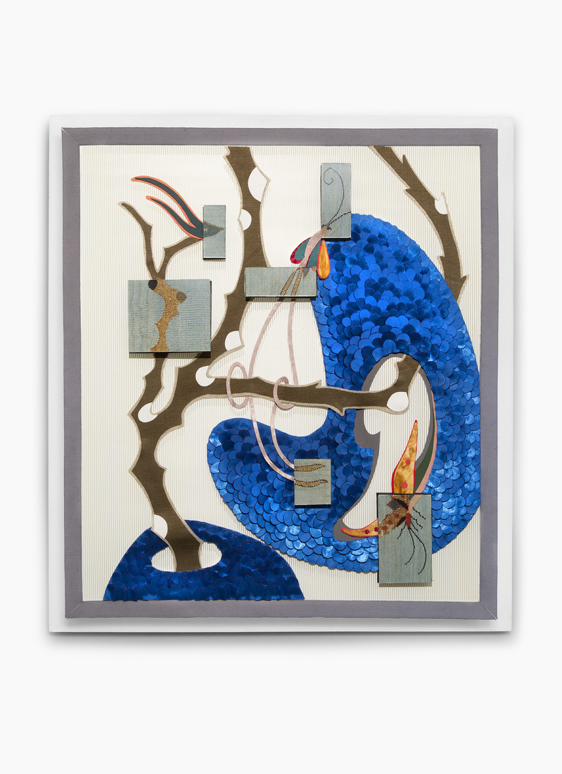 GERHARDT KNODEL Minglings: A Journey Across Time: 2015-2017 Things That Get Caught in a Tree After a Storm: Blue, 2015-2017, 29 x 26 x 3 in.