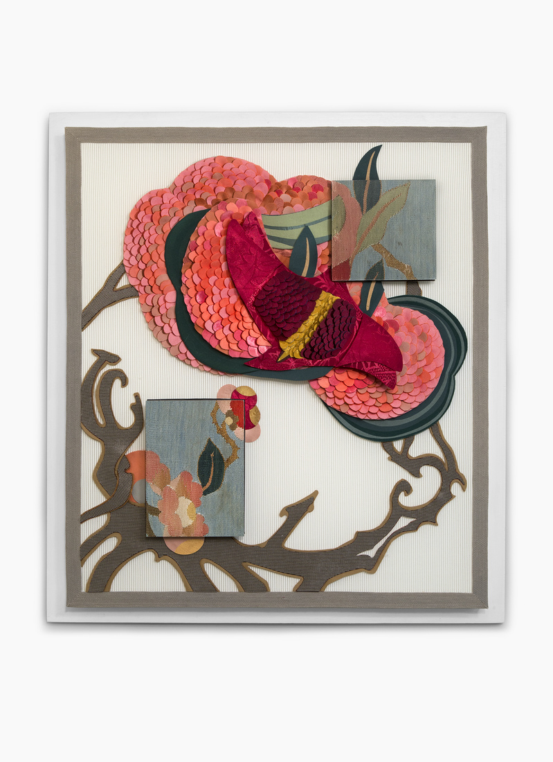 GERHARDT KNODEL Minglings: A Journey Across Time: 2015-2017 Things That Get Caught in a Tree After a Storm: Pink, 2015-2017, 29 x 26 x 3 in.
