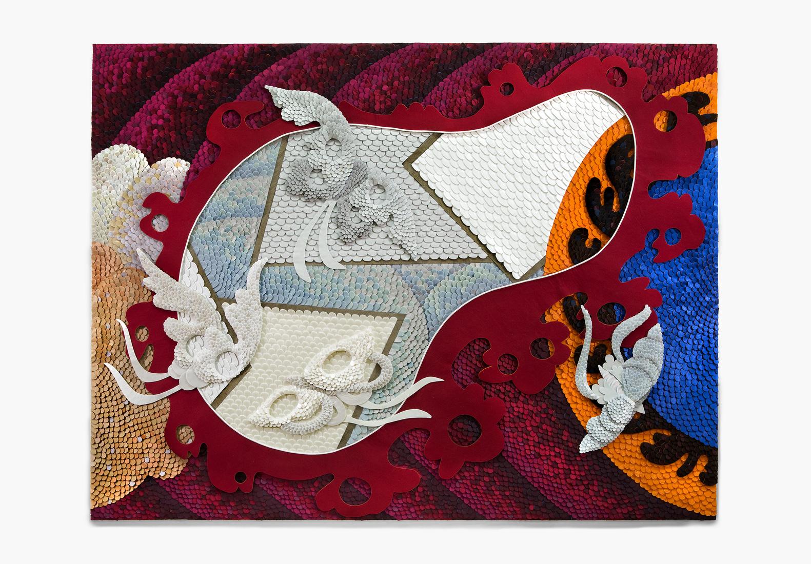 GERHARDT KNODEL Minglings: A Journey Across Time: 2015-2017 Eclipse, 2015-2017, 51 x 67 x 2 in.