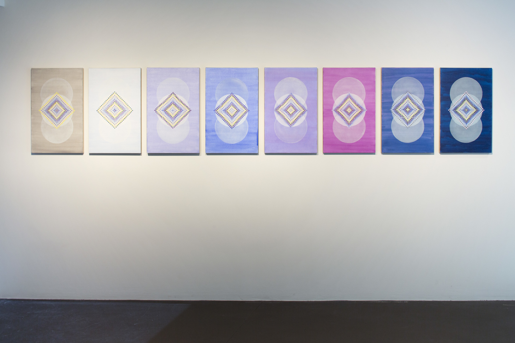 Hours Series Installation view, Sixfold Symmetry: Pattern in Art and Science, Tang Teaching Museum at Skidmore College