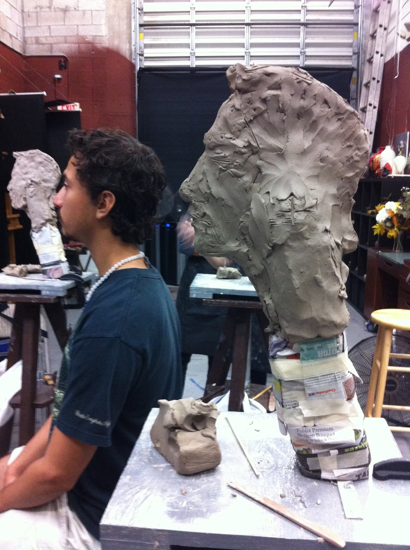 HASSO EWING visual artist Process Pics clay