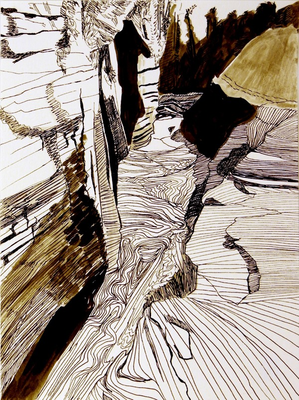 Iris Osterman Ink  Ink on paper