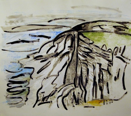 Iris Osterman South Downs Way Prints Monotype/ Hand-colored w/pastel