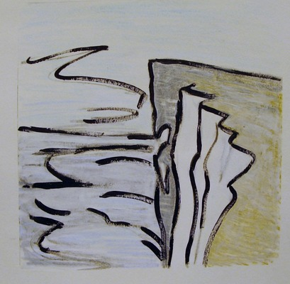 Iris Osterman South Downs Way Prints Monotype w/acrylic