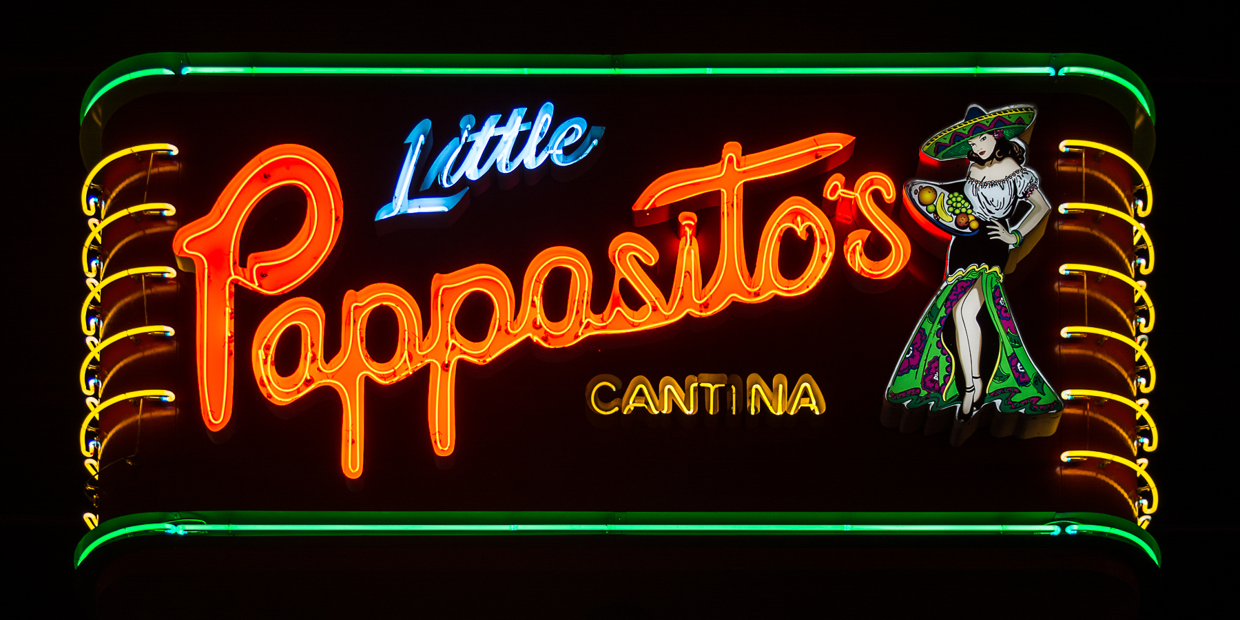 Houston Neon Little Pappasito's - Houston, Texas