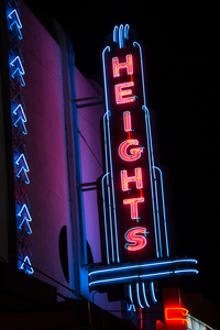 Houston Neon Photograph on Aluminum