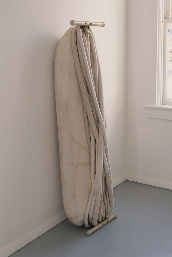 Janice Redman: Sculptor Early Sculpture Ironing board, cotton batting, cloth, sand, wax