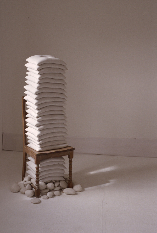 Janice Redman: Sculptor 2000 Sand, cotton, wood, wool, rocks