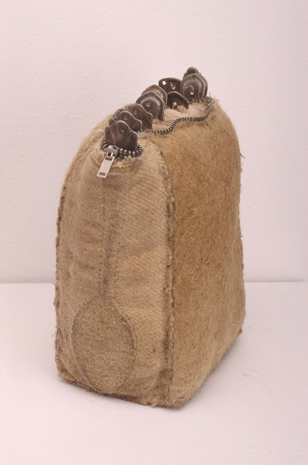 Janice Redman: Sculptor 2000 Wool, metal, cotton batting