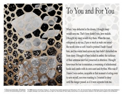 "Janice Redman: Sculptor  published collaborations Visual response to ""To You and For You"""