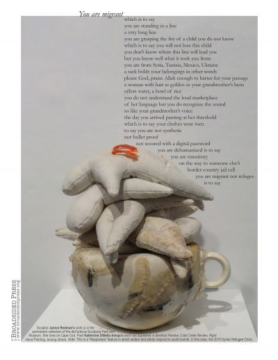 Janice Redman: Sculptor  published collaborations Poem by Katherine DiBella Seluja, written in response to the sculpture