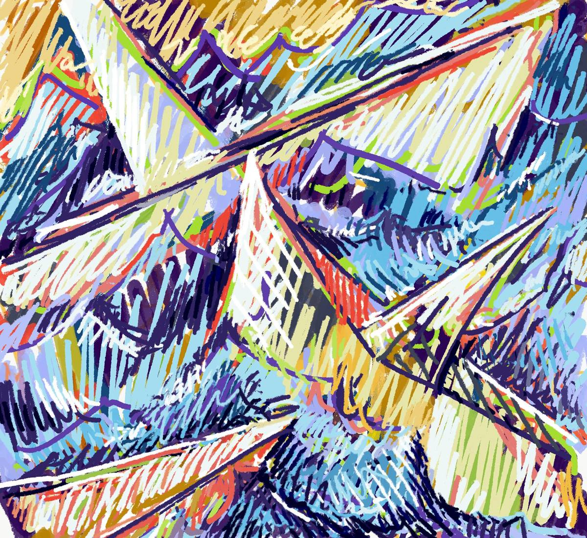 Digital Painting/Drawing Paper Boats