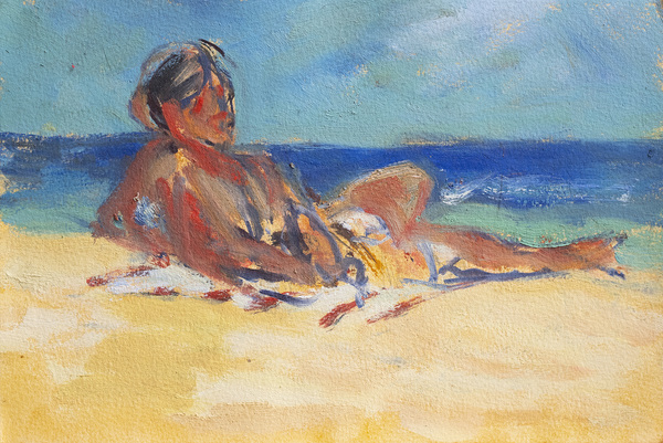 Oil Sketches On the Beach (study)