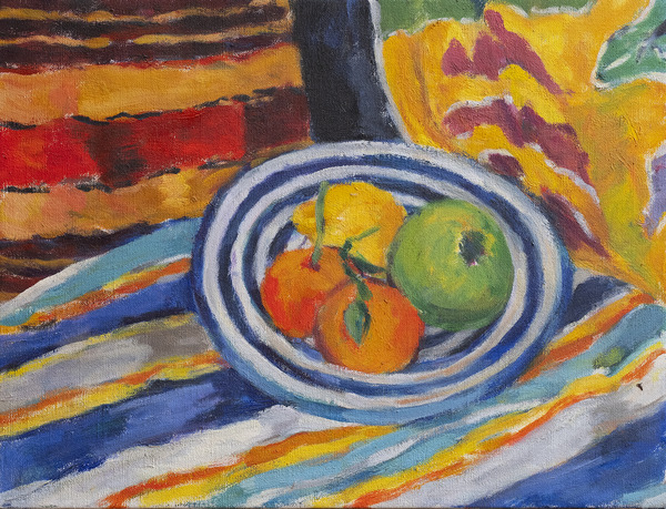 Still Life Fruit and Cloth