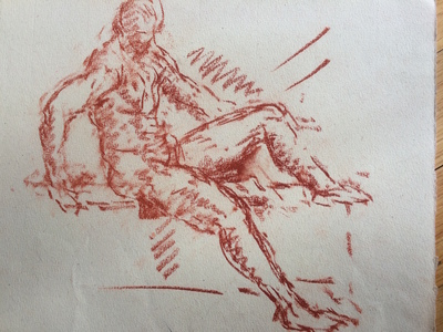 John Cunningham Drawings red chalk on paper