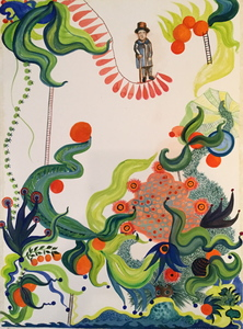 Jill Slaymaker Works on Paper gouache on paper