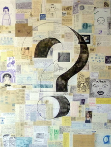 Jill Slaymaker Text/Book Art ink on paper mounted on wood
