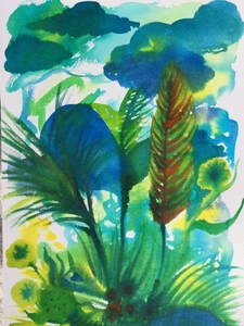 Jill Slaymaker Works on Paper watercolor on paper