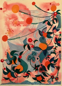 Jill Slaymaker Works on Paper gouache and watercolor