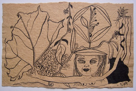 Jill Slaymaker Works on paper (selected) India ink on tan paper