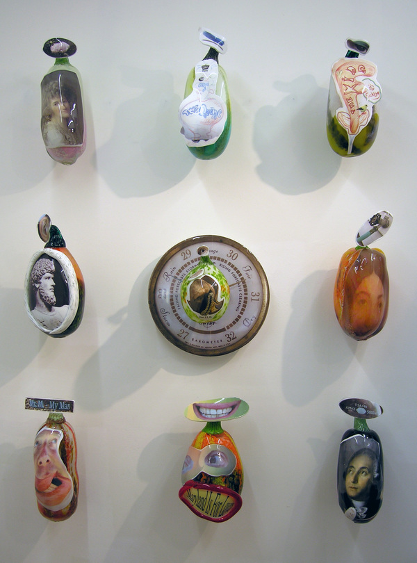 "Jim Butler SCULPTURE: ""Revolutionary Folk"" Blown Glass"