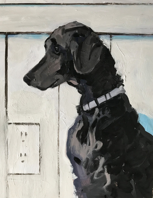 JOHN BONNER DOG SERIES Oil on board