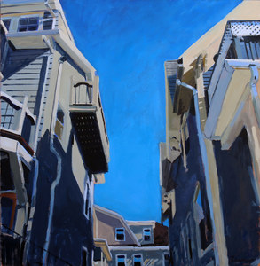 John Bonner Urban Landscapes Acrylic on canvas