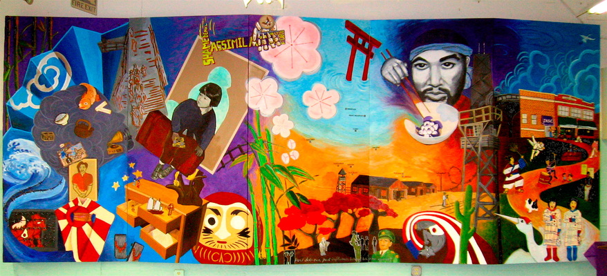 Juan-Carlos Perez Community/Murals acrylic, paper on wood