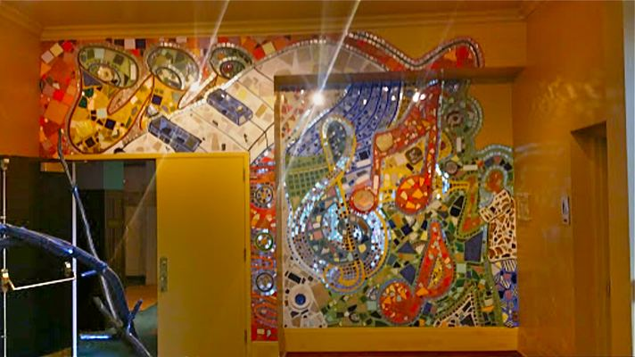 Juan-Carlos Perez Community/Murals Bricolage: mosaic, mirrors, ceramics, acrylic paint, colored grout
