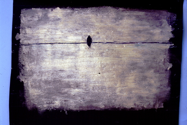 Juan-Carlos Perez Conversaciones-Bird Series oil on tar paper