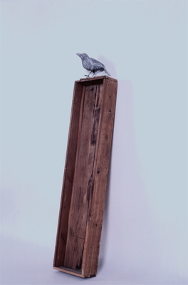 Juan-Carlos Perez Conversaciones-Bird Series wood, polymer, plastic, pencil and egg tempera