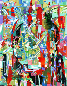 Karen L Kirshner Pop/Surrealistic Abstracts x