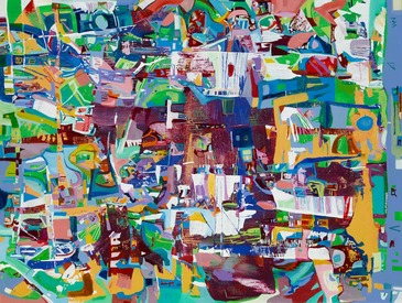 Karen L Kirshner Complex Abstracts 30 x 40 inches