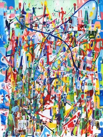 Karen L Kirshner Complex Abstracts 48 x 36 inches