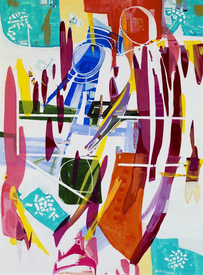 Karen L Kirshner Pop/Surrealistic Abstracts 40 x 30 inches